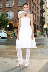 Givenchy Resort 2014 - White dress with lace pants
