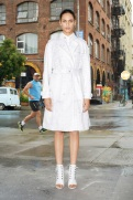 Givenchy Resort 2014 - White trench coat
