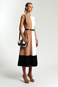 Michael Kors Resort 2014 - Beige, white and black dress