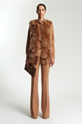 Michael Kors Resort 2014 - Fur vest and pants