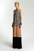 Michael Kors Resort 2014 - Leapord print, brown and black dress