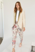 Stella McCartney Resort 2014 - Floral pants and white jacket with snake print