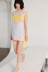 Stella McCartney Resort 2014 - Peach dress with lip and heart