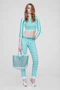 Versace Resort 2014 - Baby blue plaid top and pants