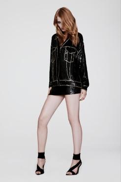 Versace Resort 2014 - Black sequence dress