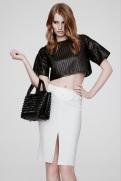 Versace Resort 2014 - Black top and white skirt