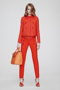 Versace Resort 2014 - Red jacket and pants