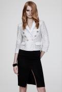 Versace Resort 2014 - White jacket and black skirt