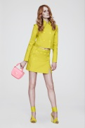 Versace Resort 2014 - Yallow jacket and skirt