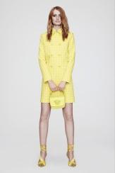 Versace Resort 2014 - yellow plaid coat