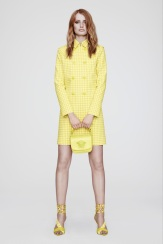 Versace Resort 2014 - yellow plaid coat