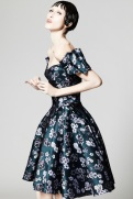 Zac Posen Resort 2014 - Green floral print dress