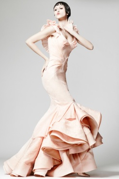 Zac Posen Resort 2014 - Peach long dress