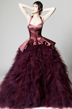 Zac Posen Resort 2014 - Purple dress