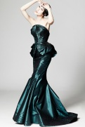 Zac Posen Resort 2014 - Royal green dress
