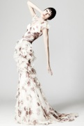 Zac Posen Resort 2014 - White dress with print