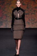 Christian Dior Fall 2013 Couture - Orange, grey and black coat dress