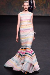 Christian Dior Fall 2013 Couture - Stripped white and colored dress