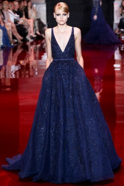 Elie Saab Fall 2013 Couture - Blue dress III