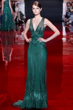 Elie Saab Fall 2013 Couture - Green dress III