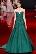 Elie Saab Fall 2013 Couture - Green dress VI