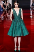 Elie Saab Fall 2013 Couture - Short green dress