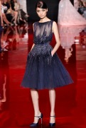 Elie Saab Fall 2013 Couture - Short purple dress