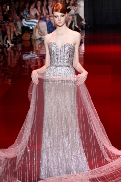 Elie Saab Fall 2013 Couture - Silver sequence dress