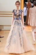 Zuhair Murad Fall 2013 Couture - Beige and blue dress