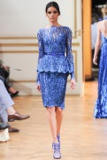 Zuhair Murad Fall 2013 Couture - Blue top and skirt