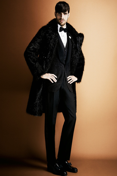 Tom Ford Men's black fur coat