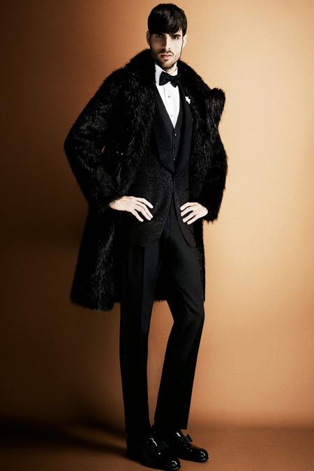 Tom Ford Men's black fur coat