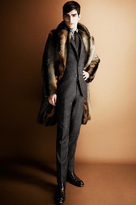 Tom Ford men's brown fur coat