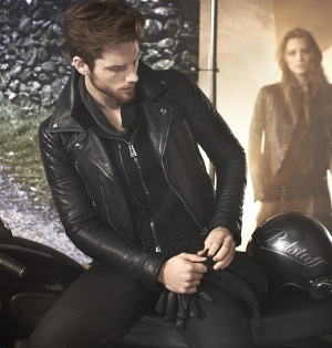Belstaff men leather jacket