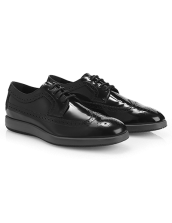 Hogan black tie sneakers