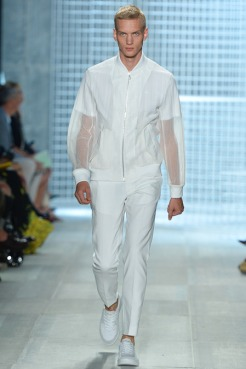 Lacoste Spring 2014 - Men see through jacket & pants