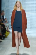 Lacoste Spring 2014 - Women brown long sweater navy blue dress