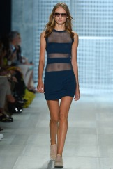 Lacoste Spring 2014 - Women navy blue see through dress