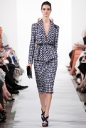 Oscar de la Renta Spring 2014 - blacg & white tweed jacket and skirt