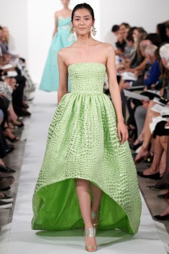 Oscar de la Renta Spring 2014 - Green dress