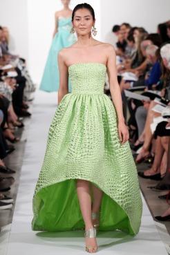 Oscar de la Renta Spring 2014 - Green dress