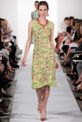 Oscar de la Renta Spring 2014 - Green floral dress