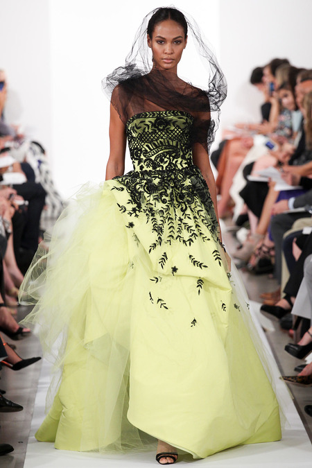 Oscar de la Renta Spring 2014 - lime green dress