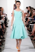 Oscar de la Renta Spring 2014 - mint blue dress