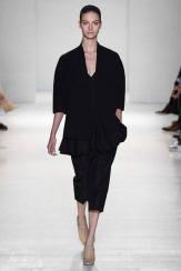Victoria Beckham Spring 2014- Black jacket, shirt, and pants