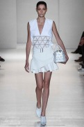 Victoria Beckham Spring 2014- White top and skirt