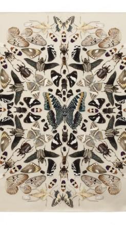 alexander mcqueen- Damien hirst butterfly white scarf