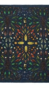 alexander mcqueen- Damien hirst green scarf 2