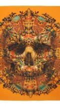 alexander mcqueen- Damien hirst Orange scarf