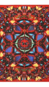 alexander mcqueen- Damien hirst red scarf
